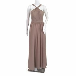 Azazie Taupe Bridesmaid Dress Size Small